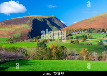 Cumbrian landscape near Castlerigg Stone Circle, Lake District National Park, Keswick, Cumbria, England, UK, Europe - Stock Image