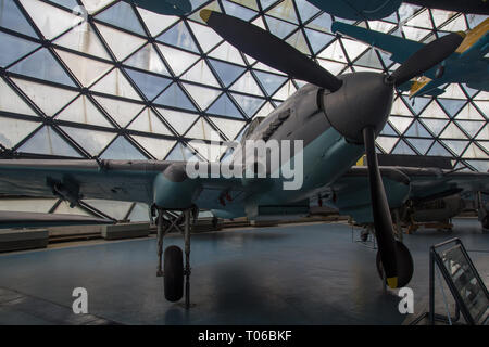 Ilyshin Il-2m3 Shturmovik airplane on display at Aeronautical museum Belgrade - Stock Image