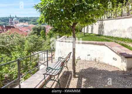 Romantic Fürstenberg Garden, the southern slope of Prague Castle gardens, Czech Republic - Stock Image