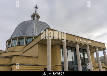 The Church of Christ the Cornerstone based in the Guildhall, Central Milton Keynes, Buckinghamshire, UK - Stock Image