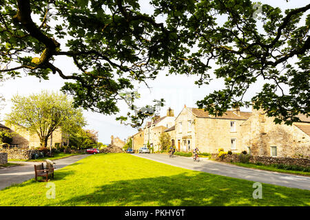 Cycling in Yorkshire, riding bike, bike, racing, cycling, Yorkshire, UK, roads, road, bicycles, riders, riding, Yorkshire roads, biking in Yorkshire, - Stock Image