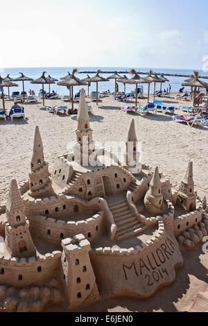 Majorca Sandcastle - Stock Image