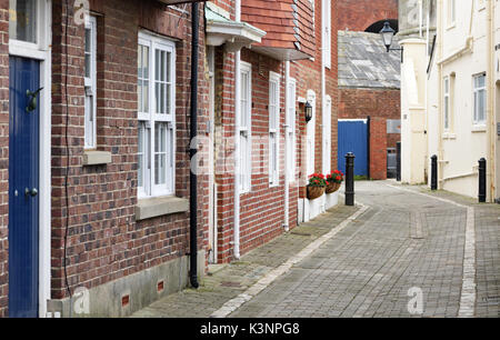 Tower Street in Old Portsmouth. Portsmouth, Hampshire, UK - Stock Image