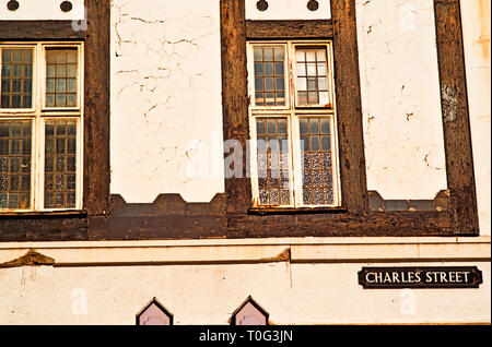 Sheffield, Charles Street, Arcitectural Detail, England - Stock Image