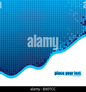 Vector illustration abstract background with dots - Stock Image