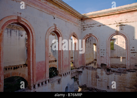One of the many ruins found in the ghost town of MINERAL DE POZOS  a small artist colony & tourist destination - Stock Image