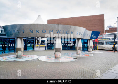 West Bromwich Bus Station, West Bromwich, West Midlands, England, UK - Stock Image