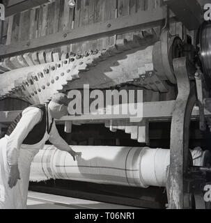 1950s, Linen manufacture, Northern Ireland - Stock Image