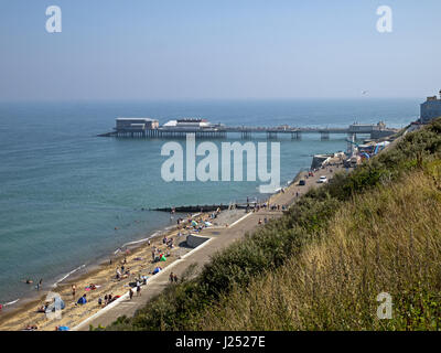 The North Norfolk Coast at Cromer with its magnificence Pier, Cromer, Norfolk, England, UK - Stock Image