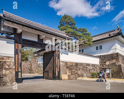 21 March 2019: Tokyo, Japan - Sakurada-mon Gate, an entrance to the Imperial Palace grounds,Tokyo. - Stock Image