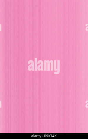 Bright pink pastel fiber linen texture swatch background, detailed vertical macro closeup, rustic vintage textured fabric burlap canvas pattern - Stock Image