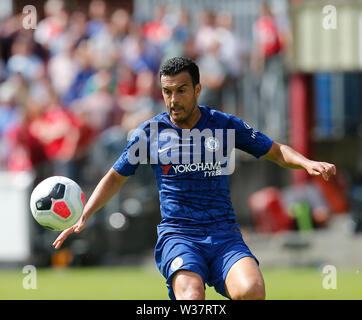 Richmond Park, Dublin, Ireland. 13th July, 2019. Pre season football friendly, St Patricks versus Chelsea; Pedro of Chelsea FC takes control of the ball Credit: Action Plus Sports/Alamy Live News - Stock Image