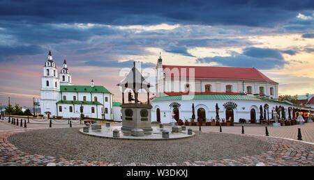 Minsk, Belarus. The Cathedral Of Holy Spirit In Minsk - The Main Orthodox Church Of Belarus And Symbol Of Capital - Stock Image