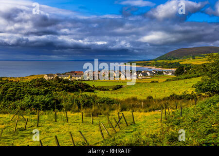 Picturesque Village Of Helmsdale At The Atlantic Coast In Scotland - Stock Image