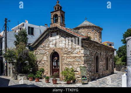 A Church in Skopelos Town, Northern Sporades Greece. - Stock Image