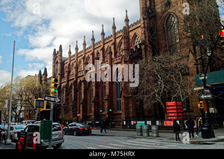 St. Ann & the Holy Trinity Church is a historic Episcopal church  at the corner of Montague and Clinton streets - Stock Image