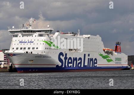Methanol powered Stena Germanica moored in Kiel - Stock Image