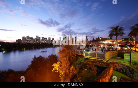 The Cliffs Cafe at Kangaroo Point Brisbane - Stock Image