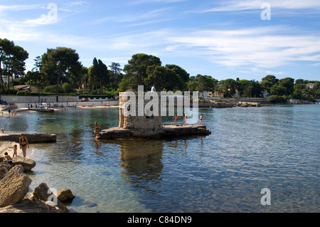 Cap d'Antibes, small beach for families - Stock Image