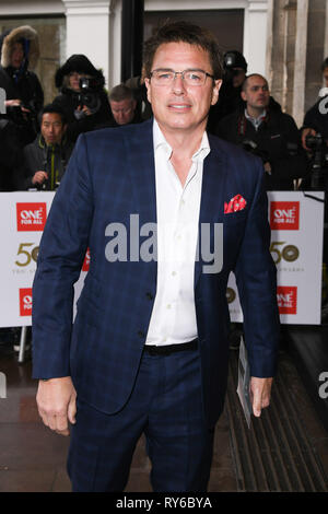 London, UK. 12th Mar, 2019. LONDON, UK. March 12, 2019: John Barrowman arriving for the TRIC Awards 2019 at the Grosvenor House Hotel, London. Picture: Steve Vas/Featureflash Credit: Paul Smith/Alamy Live News - Stock Image
