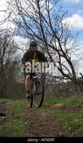 Bike riding / Biking High Peak Trail Peak District Derbyshire Great Britain - Stock Image