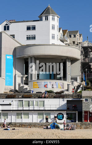 Tate St Ives, one of the most famous galleries in the town traditionally popular with artists, St Ives, Cornwall, - Stock Image