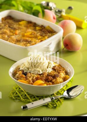 Peach Cobbler - Stock Image