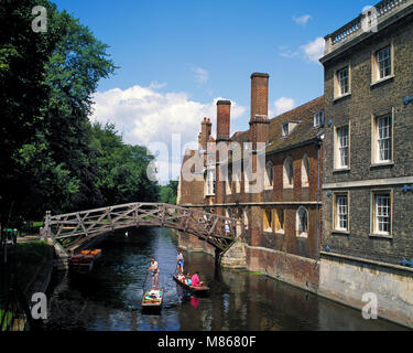 The Mathematical Bridge Cambridge Cambridgeshire England UK - Stock Image
