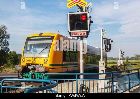 Ceske drahy, Czech railways, Locomotive Class 841, Czech Republic Train, Europe - Stock Image