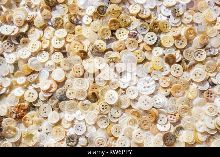 Pearl buttons - Stock Image
