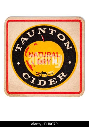 Vintage Beermat Advertising Taunton Cider - Stock Image