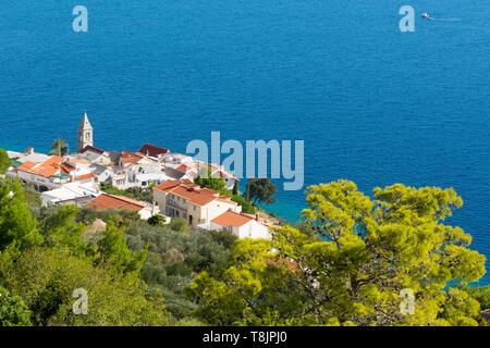 Kroatien, Dalmatien, Ortschaft Pisak südlich von Omis - Stock Image