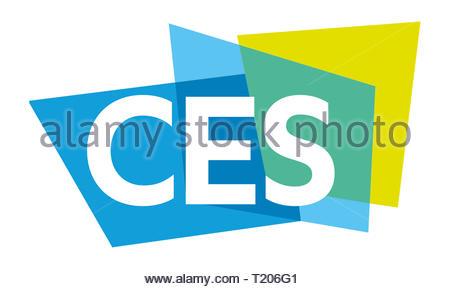 CES Consumer Electronics Show icon logo - Stock Image