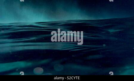 Moody seascape - Stock Image