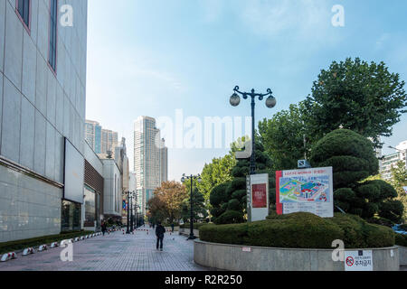 Exterior view of Lotte World in Seoul, South Korea. - Stock Image