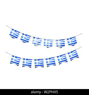 Greece flag, vector illustration on a white background. - Stock Image