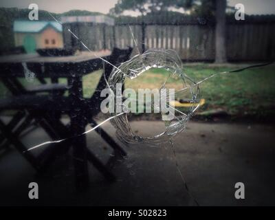 Broken window. - Stock Image