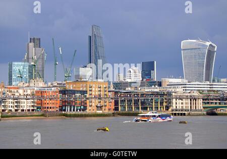 River Thames and skyline, London, England, UK - Stock Image