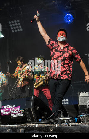 Muyayo Rif, Festival Bout du Monde 2018 à Crozon Brittany, Chanteurs engagés, Committed singers  chanteurs espagnols, Barcelonnais, Spanish singers, B - Stock Image