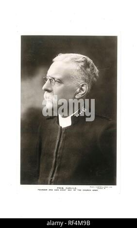 Vintage black and white postcard photo of Preb. Carlile. Founder and Hon Chief Sec of The Church Army - Social History - Stock Image