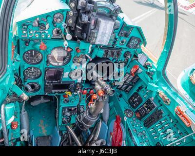 HRZ MiG-21 BIS-D cockpit - Stock Image