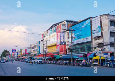 Maharaj Road, Krabi town, Thailand - Stock Image
