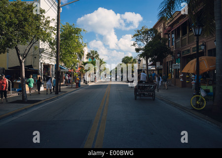 View of a street in Key West, Florida. - Stock Image