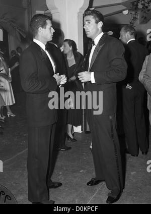 Peter Lawford and Reginald Boardman at the Theatre in Palm Beach, FL, ca 1950 (Photo by Bert Morgan/Bert Morgan - Stock Image