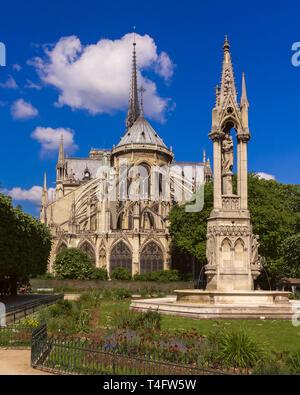 Cathedral of Notre Dame de Paris - Stock Image