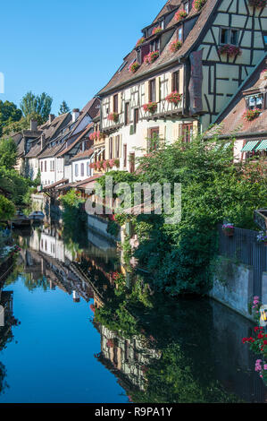 Rue Turenne in Petite Venise, Colmar, Alsace, France - Stock Image