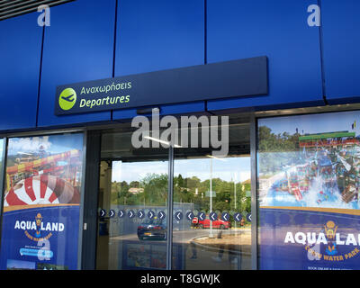 New departures terminal for 2019 at Ioannis Kaposistrias airport Corfu, Greece, - Stock Image