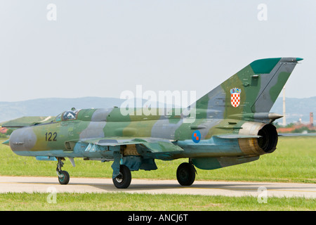 Croatian Air Force MiG-21 BISD fighter taxi - Stock Image