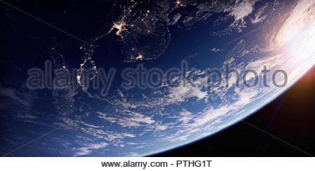 Southeast Asia at night from space - Stock Image