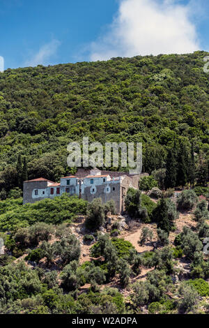 Monastery of Evangelistria, Skopelos, Northern Sporades Greece. - Stock Image
